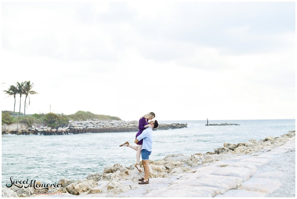 A Romantic and Playful Boca Raton Beach Engagement Session | Boca Raton Photographer