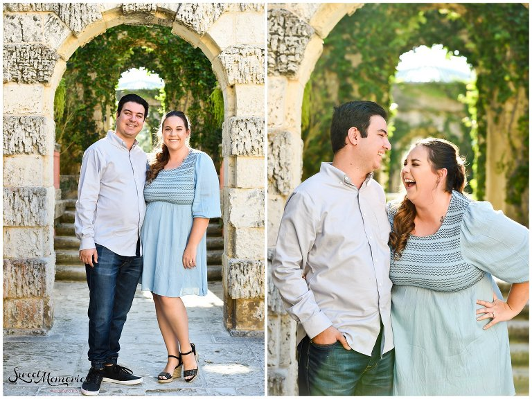 "Nicki and Charlie's Vizcaya engagement session would never have taken place without the help of online dating. And if you didn't believe in soulmates, the ""one, or people who were always meant to be, you will!"