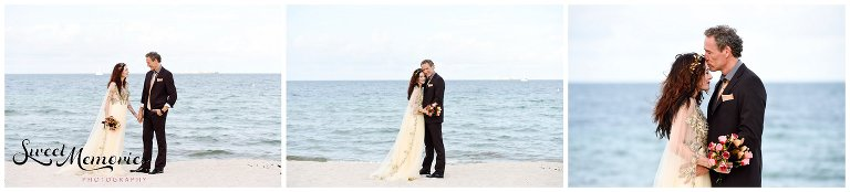 This fun Fort Lauderdale Beach 25 year anniversary celebration is fun and eccentric, mixing in some romance with a trash-the-dress session in the water!