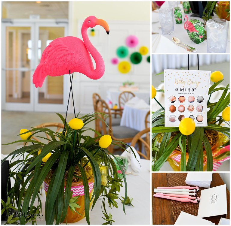 What's more fitting than a Florida-based mommy-to-be having a tropical baby shower? Decked out with flamingos, lemons, tropical colors, and plants at the Hillsboro Club, it was the perfect way to celebrate Blair and her baby, Harlow!