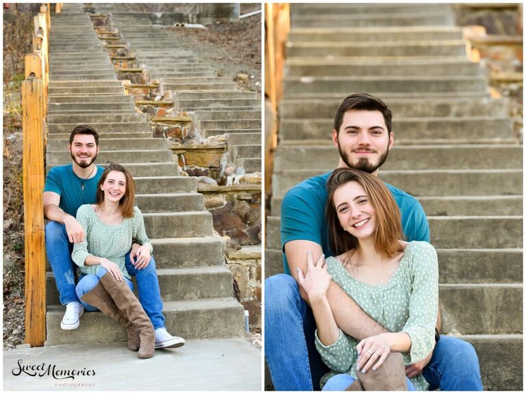 Mabry and Jacob's engagement session at Shiraz Garden prior to the proposal but post-falling in love! Aren't they the cutest?!