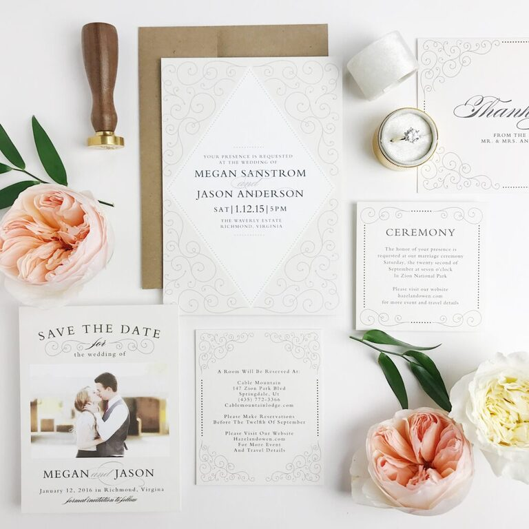 Want beautiful, great quality, and affordable stationery? Check out Basic Invite's save the date online and destination themed save the date!