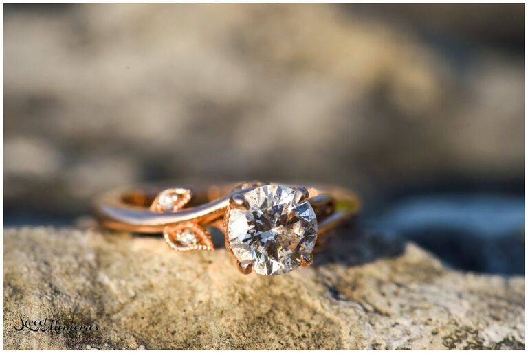 This beautiful engagement ring was picked out by Fred himself.